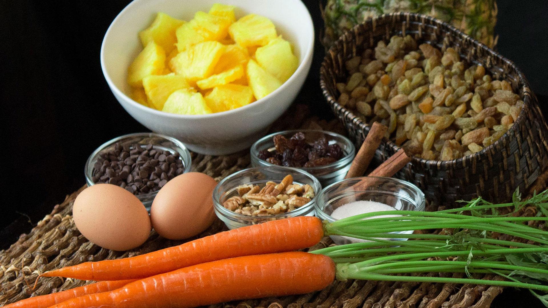 Fresh Carrot Cake Ingredients